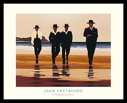 Germanposters Jack Vettriano The Billy Boys Poster Kunstdruck Bild mit Alu Rahmen in schwarz 56x46cm