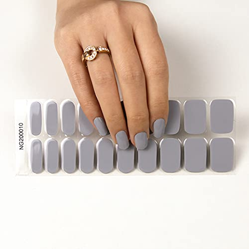 Semi Cured Gel Nail - 20 Stickers Nail Gel Polish...