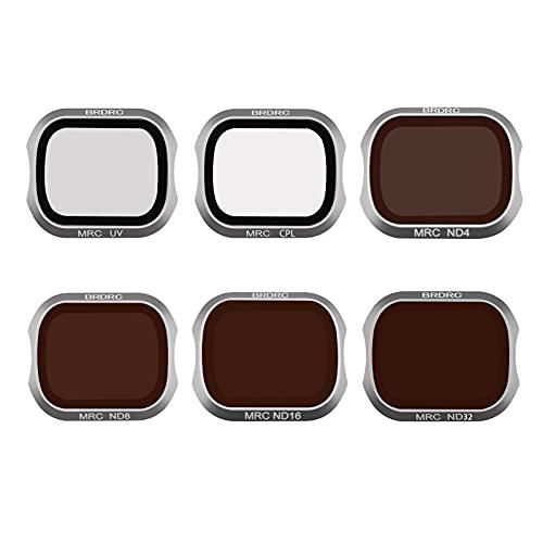 V-MAXZONE Filtro de Lentes para dji para Filtro de cámara Pro Mavic 2 Filtro UV CPL ND Filtro ND16 ND32 ND4 ND8 para Mavic 2 Pro Accesorios DRONO ( Color : UV CPL ND4 8 16 32 )