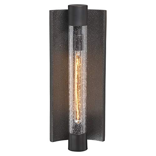 Minka Lavery 72663-574 Celtic Shadow Outdoor Wall Sconce Lighting, 1-Light, 60 Watt, Textured Dark Bronze (21'H x 8'W)