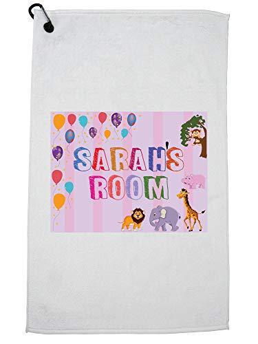 Hollywood Thread Sarah's Room - Jongen Verjaardagscadeau - Ballonnen & Dieren Golf Handdoek met Karabijnhaak Clip