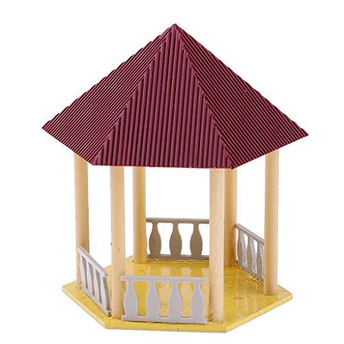 SM SunniMix Retro China Pavillon Architektur Gebäude Modell DIY Mikro Landschaften - mr1307