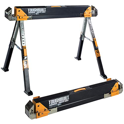 ToughBuilt - Sawhorse Adjustable up to 4 x 4 Size Support Arms 1300 LB Capacity - (TB-C700)