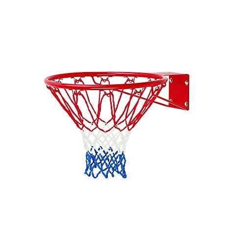 Canasta de baloncesto ajustable, anillo de baloncesto, canasta de baloncesto, 46 cm, canasta reglamentaria con red incluida