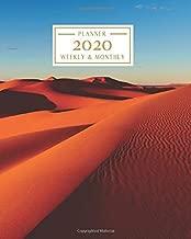 2020: Weekly and Monthly Planner/Calendar Jan 2020 – Dec 2020 Sahara Desert