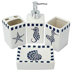419NzMWi8qL._SS300_ Coastal & Beach Bathroom Accessories Sets