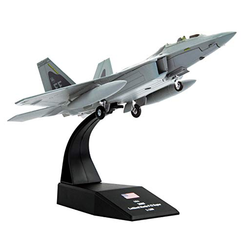 Lose Fun Park 1:100 F-22 Raptor Fighter Attack Diecast Airplanes Military Display Model Aircraft for Collection