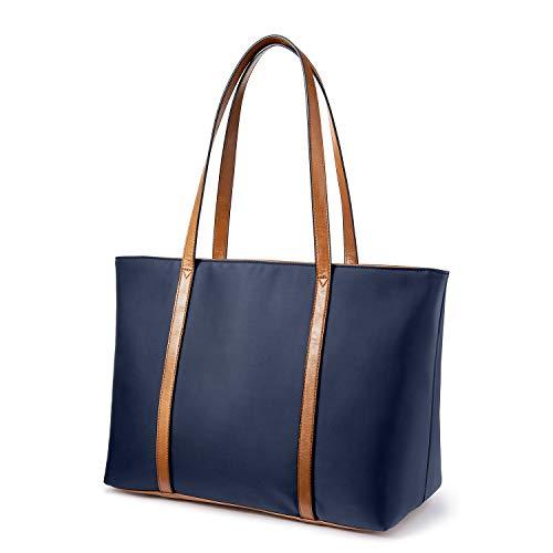 LOVEVOOK Tote Bag for Women Oxford Nylon Travel Shoulder Bag(Blue)