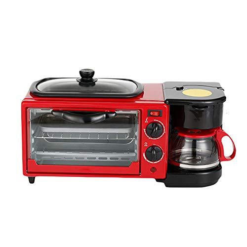 Elektrisch ontbijtbraadpan, 3-in-1, multifunctioneel, koffie, anti-droog, mini-frituren, plat, voor lunch, maker, pizza brood huishouden