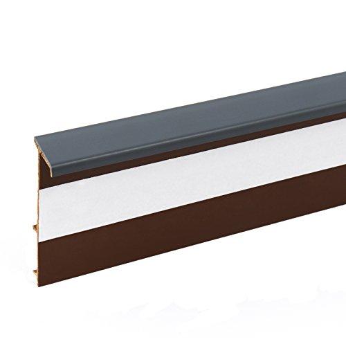 2,5m TEPPICHLEISTEN 50mm GRAPHIT Kettelleisten aus Kunststoff Fussbodenleiste Laminat Dekore Parkett Scheuerleiste