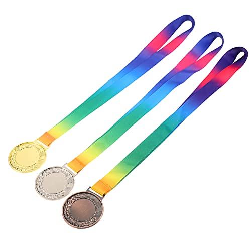 BESPORTBLE 3 Piezas de Medallas de Ganador de Premios de Plata de Oro de Metal Medallas de Ganador de Estilo Olympic Medallas para Juegos de Oficina Deportiva Niños Aulas