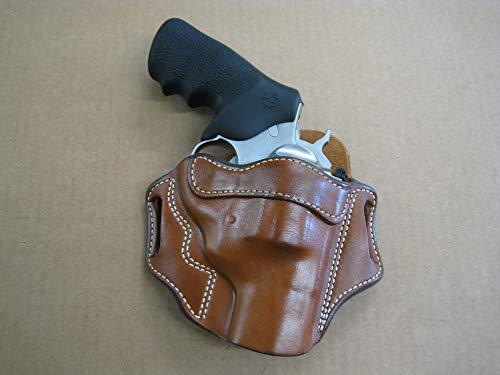 Azula OWB Leather 2 Slot Molded Pancake Belt Holster for Ruger Super Redhawk Alaskan Revolver CCW TAN RH