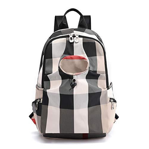 xiaozai Weibliche Tasche Nylon Damen Rucksack Oxford Stoff Tasche Outdoor-Reise Rucksack Schüler Schultasche Wasser Tasse Tasche Khaki