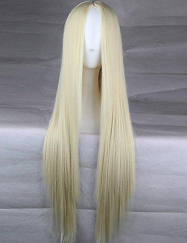 Mode Perücken WIGSTYLE mädchen Mode Must-Have natürlichen hochwertigen blonde lange glatte Haare Perücke