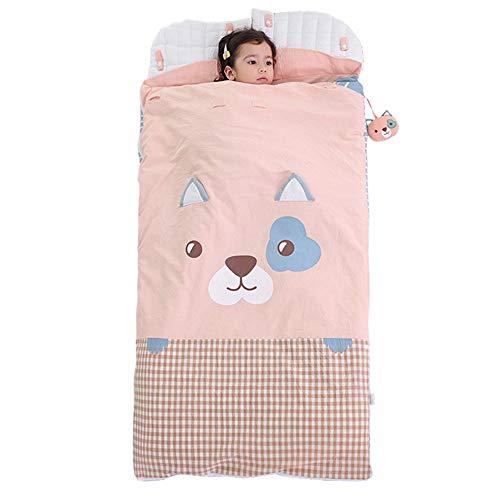 MCLJR Kids Sleeping Bag,4 Seasonsremovable Liner Children'S Sleeping Bag,25-35°C,Toddler Nap Mat,Suitable for Day Care, Indoor Use,A,68 * 100cm