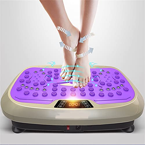 H-XH Plataforma Vibratoria Ultra Slim 4D | 3 Programas + 99 Niveles | Fácil De Guardar | para Masajes Y Tonificación Corporal Y Ejercicio.(Color:Plataforma de vibración Purple Motion)