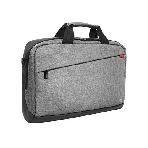 """Mobilis Sacoche pour Ordinateur Portable 14-16"""", Porte-Documents à Bandoulière Imperméable, Laptop Bag, Gris"""