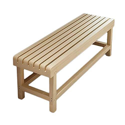 HDHXDS byt sko bänk massivt trä lång bänk, parkvilstol bastu pall omklädningsrum pall skoställ, för restaurang soffa gym sovrum säng ände pall (storlek: 60 x 35 x 40 cm)
