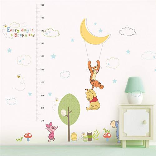 VIOYO Dessin animé Winnie Pooh Hauteur Mesure Stickers muraux pour Les Chambres des Enfants décor à la Maison Disney Animaux Croissance Graphique Stickers muraux PVC Art Mural