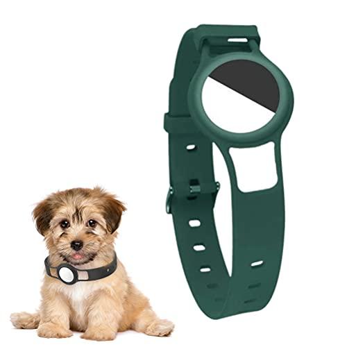 BASOYO Funda para AirTag compatible con etiquetas de aire Apple – Silicona Skin and Protector Cover Accesorios para llavero, collar de perro o gato