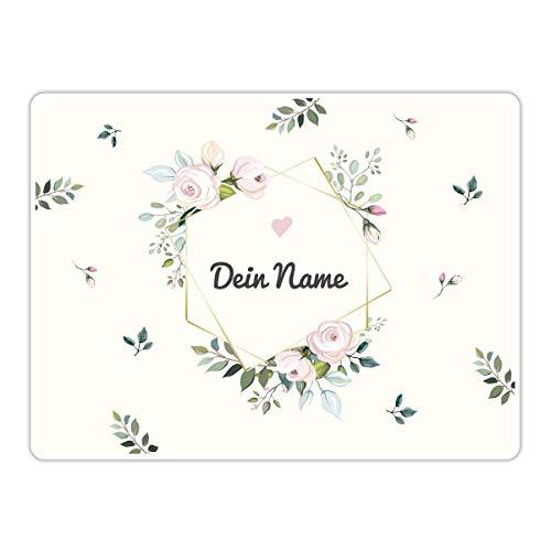 PhotoFancy® - Tischset mit Namen personalisiert - Personalisierbares Tischset Bedrucken (Floral)