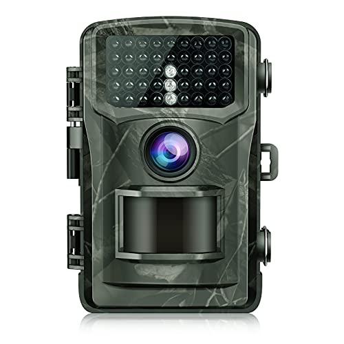 """Wildkamera 4K 20MP Jagdkamera mit 120° Wildtier Überwachung Bewegungsmelder Nachtsicht mit Infrarot Leichtes Glühen 2.0\"""" LCD IP56 Wasserdicht"""