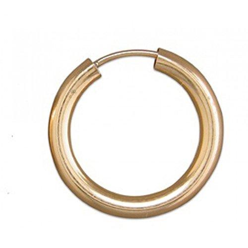 Mens 9ct gold plain single sleeper 15mm
