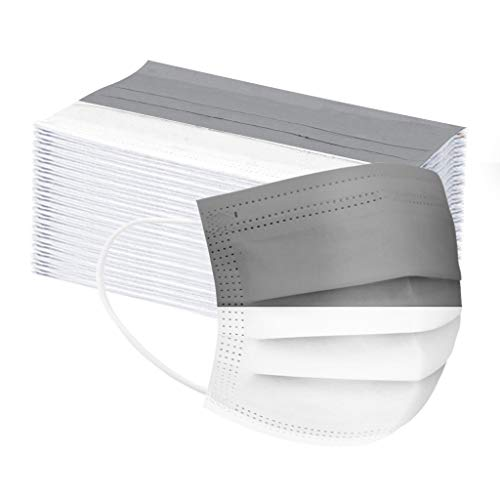 Adulto Moda Protección 3 Capas Transpirables con Elástico para Los Oídos Pack 10-80 unidades (Color de costura,azul Rosa gris)