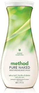 method Pure Naked Moisturizing Body Wash, Olive Leaf with Aloe Vera 18 fl oz (pack of 2)