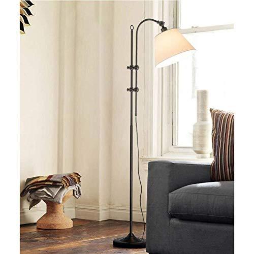 Chenbz Piso Luces Estadounidense Puede Ajustar el pie luminarias for la Sala de Estar Europea Creativo Dormitorio Estudio American Village Vertical lámparas de pie, Incluye Bombilla, 1001