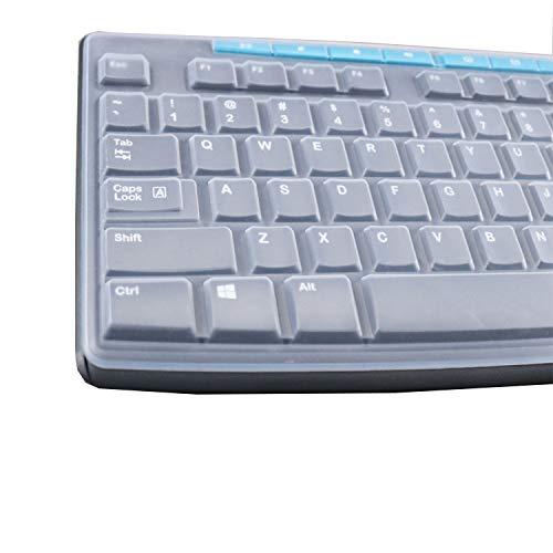 KeyCover - Ultra Thin Silicone Keyboard Cover Compatible with Logitech MK270 Wireless Keyboard & Logitech K200 K260 K270 MK200 MK260 Keyboard - Clear