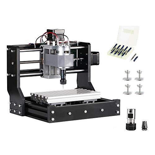 4YANG Actualice la versión CNC 1610 Pro GRBL Control DIY Mini CNC Machine, Fresadora de 3 ejes Pcb, Grabador de enrutador de madera con controlador fuera de línea y barra de extensión ER11 y 5 mm