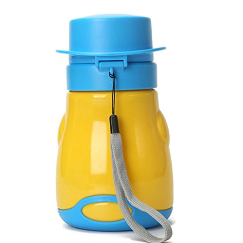 Mignon Bébé Fille Garçon Voyage Portable Urinoir Voiture WC enfants Vehicular Pot Jaune