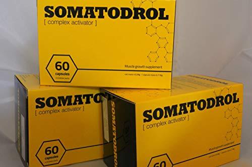 3 X SOMATODROL 60 CAPSULAS FORMACION MUSCULAR
