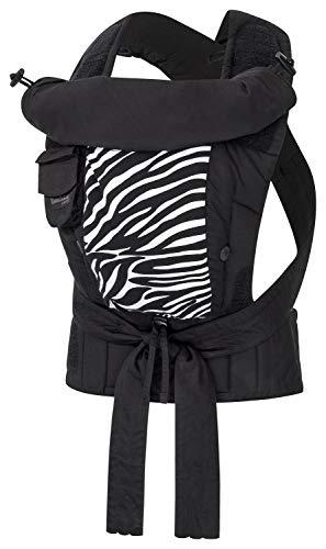 Bondolino Plus Babytrage inklusive Bindeanleitung, Slim-fit Zebra