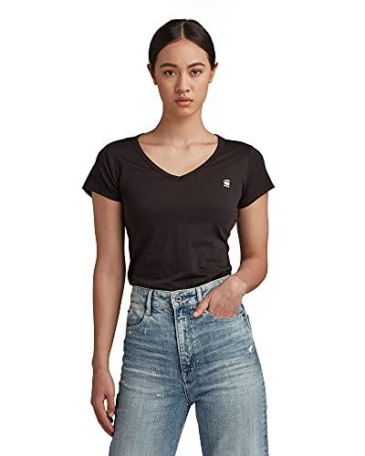 G-STAR RAW Damen T-Shirt Eyben Slim V T Wmn S/S, Schwarz (Black 990), 42 (Herstellergröße:XL)