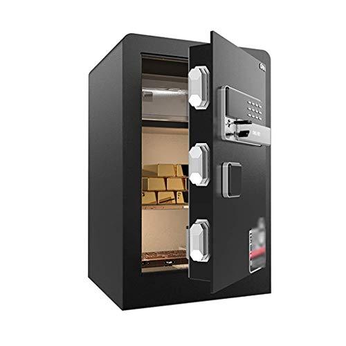 Cajas Fuertes para gabinetes Caja de Seguridad para joyería Dinero en Efectivo Objetos de Valor Documentos de la cámara Estructura de Acero sólido Caja de Seguridad (Color: Negro, Tamaño: 603638cm)