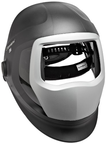 3M Speedglas 9100 Welding Helmet 06-0300-51SW, with SideWindows, Headband and Silver Front Panel