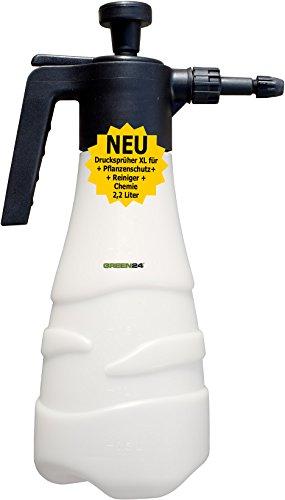 GREEN24 Drucksprüher 2,2 Ltr. Drucksprühgerät XL Sprühflasche, Blumensprüher Pumpsprüher Zerstäuber für Pflanzen Haus & Garten