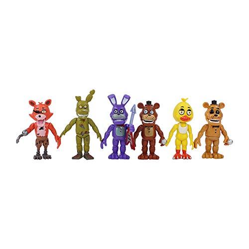 Nuevos juguetes Fnaf Five Nights At Freddy's Toys Figuras de acción de PVC Ubicación de la hermana Mangle Foxy Ballora Puppet Freddy Fazbear Dolls