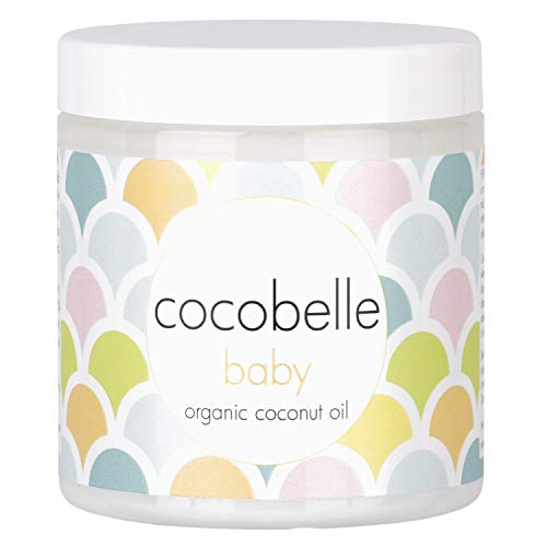 Cocobelle Baby Pure & Gentle Premium 100% Organic Virgin Coconut Oil for Babies – Perfect for Dry Skin, Eczema, Scalp/Cradle Cap, Bottom Balm, Nappy Rash Balm, Sores, Flaky Skin & Baby Massage Oil
