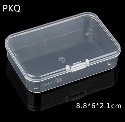 Mdsfe 21 maten transparante deksel kleine plastic doos voor kleine voorwerpen onderdelen gereedschap opbergdoos sieraden display box schroefdoos parels container nieuw - 8,8 x 6 x 2,1 cm