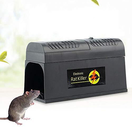 Aohuada Elektronische Rattenfalle, elektrischer Mäusekiller Professional Mausefalle für Mäuse Kastenfalle für Garten Haus EU Plug