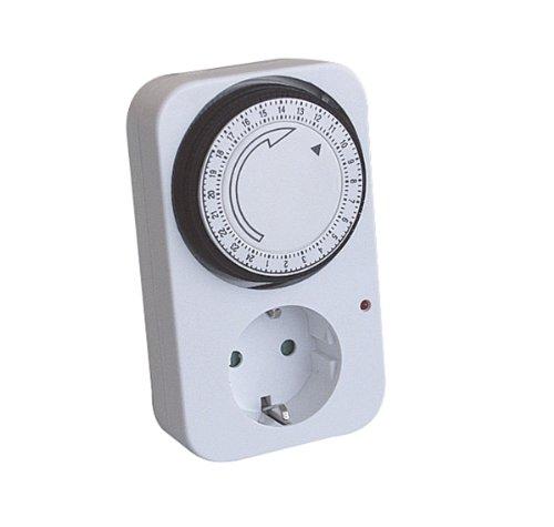 Vollmer Elektromechanische 24-h Zeitschaltuhr weiss