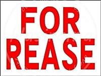 「FOR REASE」 注意看板メタル安全標識注意マー表示パネル金属板のブリキ看板情報サイントイレ公共場所駐車ペット誕生日新年クリスマスパーティーギフト