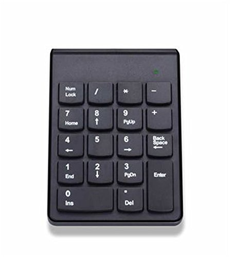 MLM Bluetooth 4.0 Numeric Keypad Wireless Number Pad 18 Keys Mini Digital Keyboard for iMac/MacBook/MacBook Air/Pro/iPad Laptop Tablet Smartphone