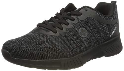 Rieker Herren B9800 Sneaker, schwarz-grau 00, 44 EU