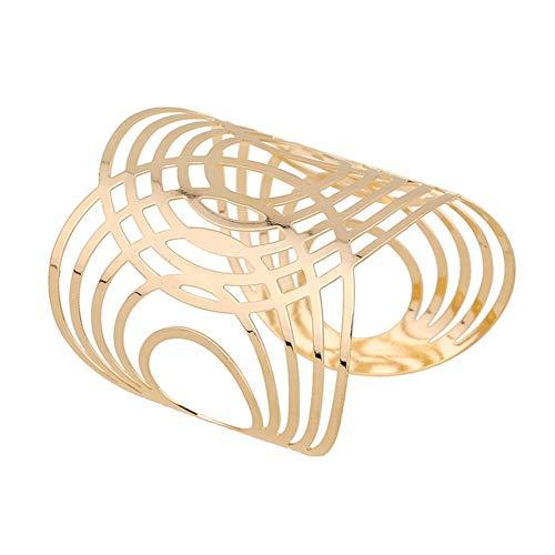 Handgefertigter Armreif aus Metall in gold Armspange Oberarmreif Spange Bangle Vintage Armband (gold)