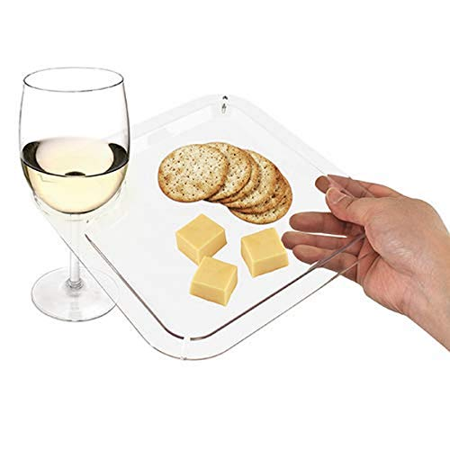 True Clear Appetizer Cocktail Plate Clear Set of 1