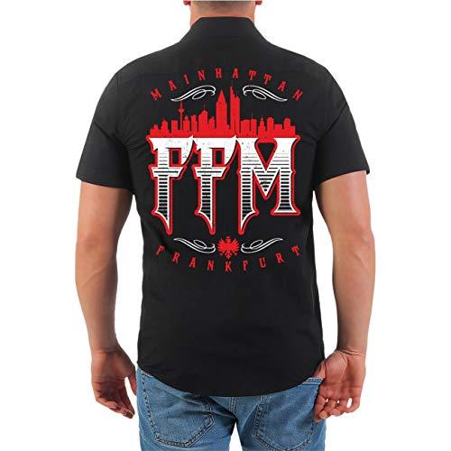 Spaß kostet Männer und Herren Hemd Frankfurt FFM Mainhattan (mit Rückendruck) Größe S - 4XL